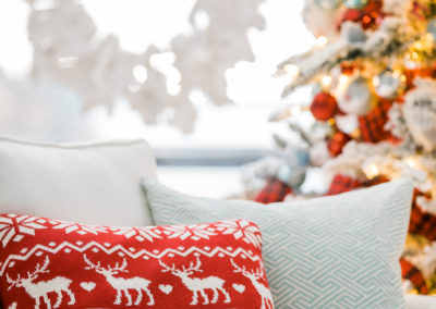 Holiday Pillows Vignette